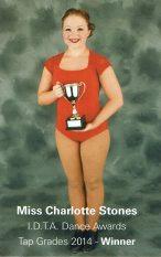 Charlotte Stones, 2014 Tap Winner